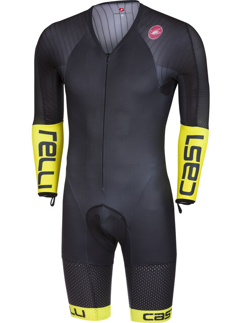 Castelli Body Paint 3.3 Speed Suit LS Men black/yellow fluo